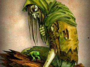 Русские легенды о кикиморах на болоте