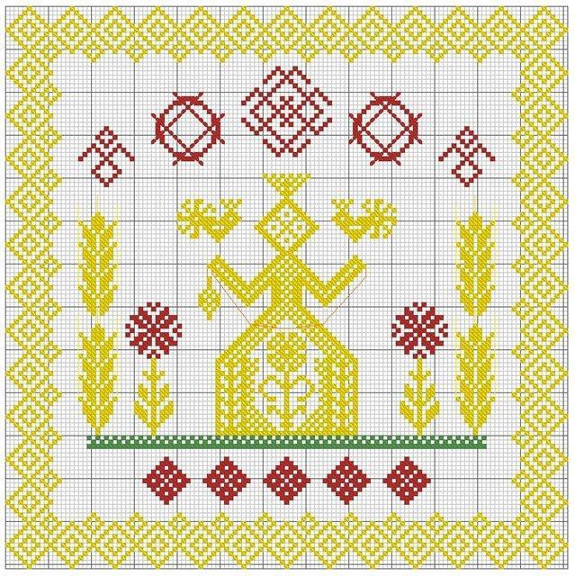 Славянские оберёги вышивка макошь