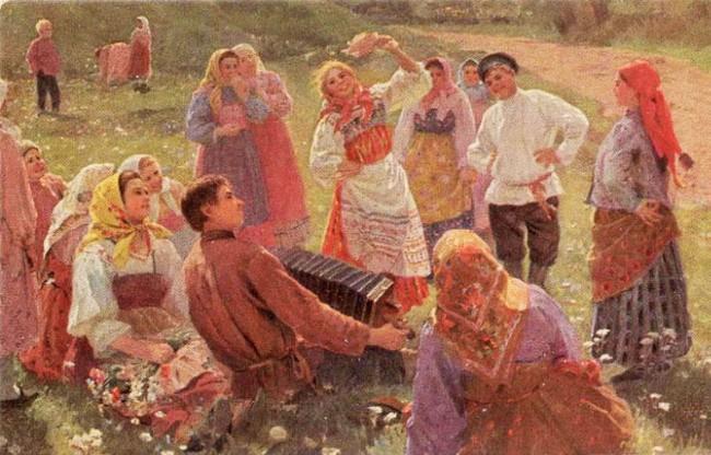 Празднование Красной Горки на Руси